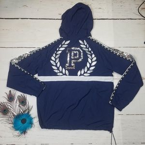 NEW XS/S BLUE PINK NATION BLING JACKET